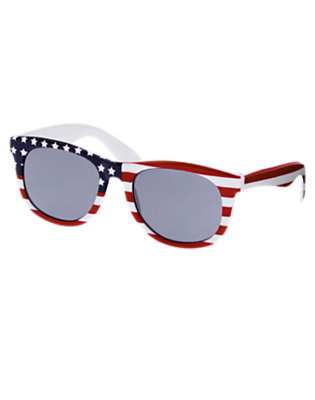 Summer Red Stripe American Flag Sunglasses by Gymboree