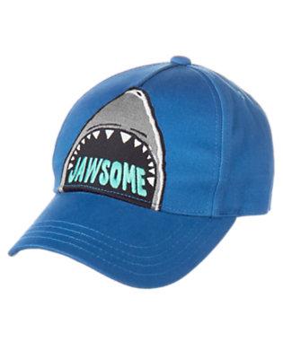 Boys Ocean Blue Jawsome Baseball Cap by Gymboree
