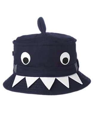 Toddler Boys Deep Navy Happy Shark Bucket Hat by Gymboree