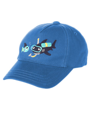 Toddler Boys Ocean Blue Snorkeling Shark Baseball Cap by Gymboree