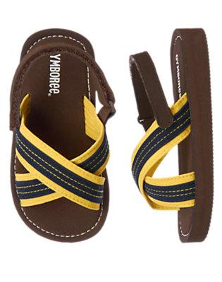 Dark Brown Stripe Flip Flop by Gymboree