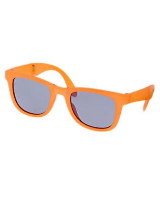 Boys Golden Orange Foldable Sunglasses by Gymboree