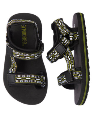 Boys Olive Green Diamond Water Sandal by Gymboree
