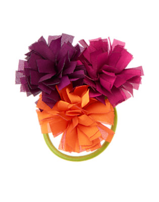 Orange Wildflower Flower Pony Holder by Gymboree