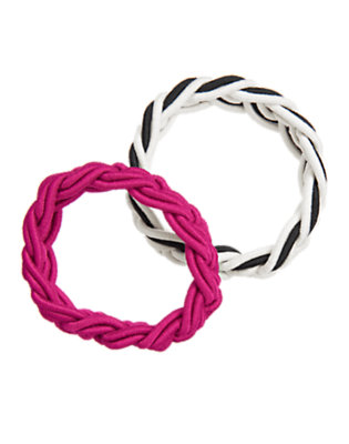 Girls Dahlia Pink Braided Bracelet Two-Pack by Gymboree