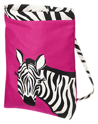 Dahlia Pink Glitter Zebra Backpack by Gymboree