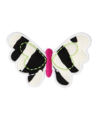 Toddler Girls Ivory Zebra Zebra Butterfly Hair Clip by Gymboree