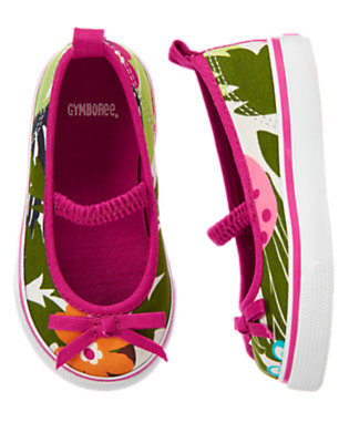 Toddler Girls Green Jungle Jungle Sneaker by Gymboree
