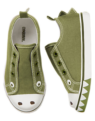Gator Green Crocodile Laceless Sneaker by Gymboree