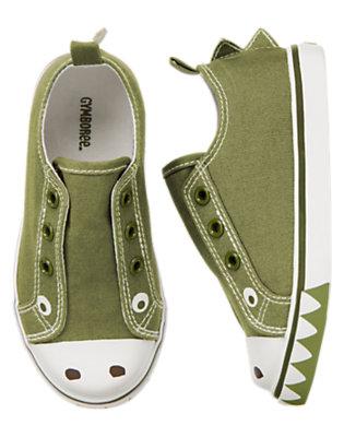 Toddler Boys Gator Green Crocodile Laceless Sneaker by Gymboree