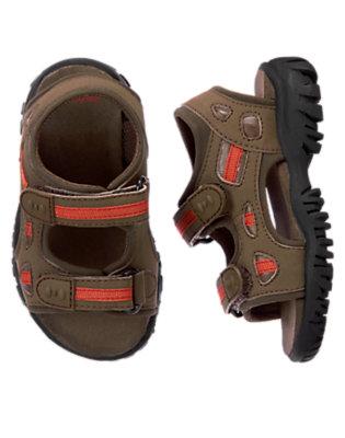Chocolate Brown Trail Sandal by Gymboree