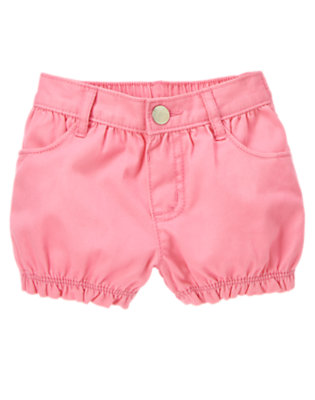 Bright Pink Ruffle Short by Gymboree