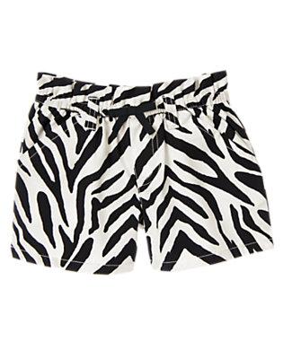Girls Ivory Zebra Zebra Short by Gymboree