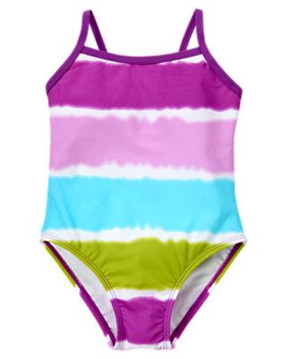 Purple Orchid Dip-Dye One-Piece Swimsuit by Gymboree