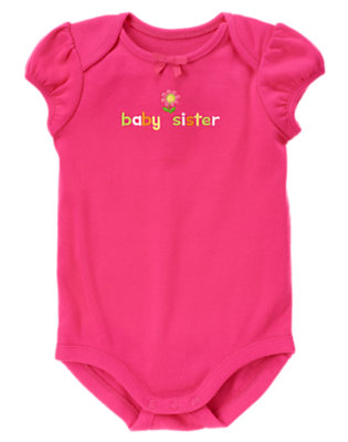 Baby Dark Pink Baby Sister Bodysuit by Gymboree