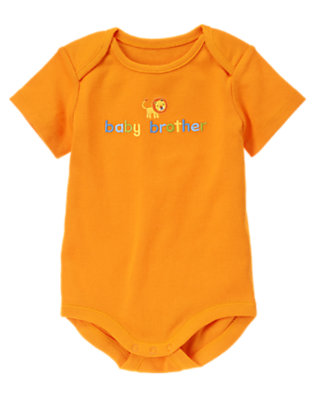 Baby Orange Baby Brother Bodysuit by Gymboree