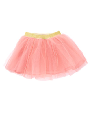 Toddler Girls Rose Pink Glitter Waist Tutu Skirt by Gymboree