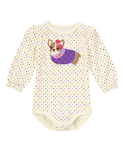 Bow Corgi Dot Bodysuit/Tee