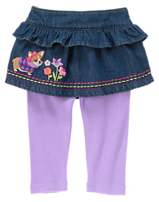 Toddler Girls Denim Corgi Jean Skirt Legging by Gymboree