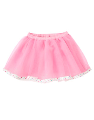 Toddler Girls Frosting Pink Dot Ribbon Tutu Skirt by Gymboree