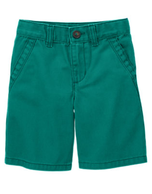 Boys Galaxy Green Chino Short by Gymboree