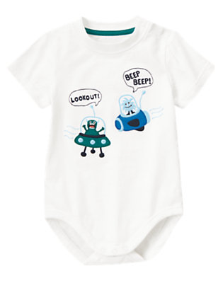 White Space Monsters Bodysuit/Tee by Gymboree