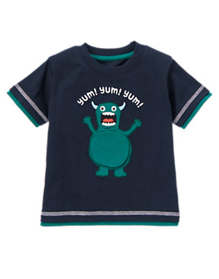 Spaceship Navy Hungry Space Monster Tee by Gymboree