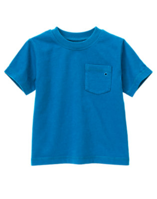 Asteroid Blue Pocket Tee by Gymboree