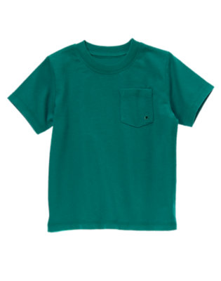 Galaxy Green Pocket Tee by Gymboree