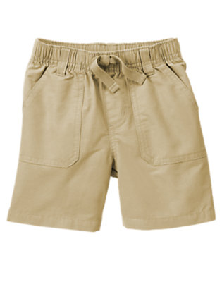 Khaki Pull-On Belted Cargo Short by Gymboree