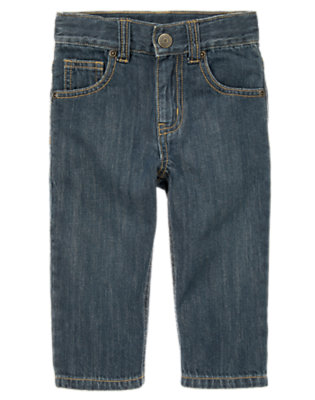 Toddler Boys Medium Wash Denim Classic Jean by Gymboree