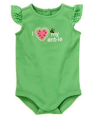 Summer Green I Heart My Ant-ie Bodysuit by Gymboree