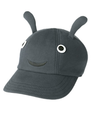 Baby Slate Grey Ant Baseball Cap by Gymboree