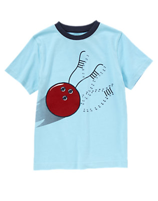Boys Sky Blue Connect The Dots Bowling Tee by Gymboree