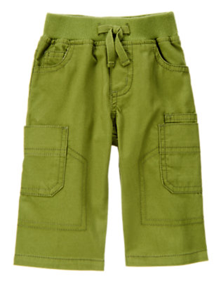 Moss Green Corduroy Cargo Pant by Gymboree