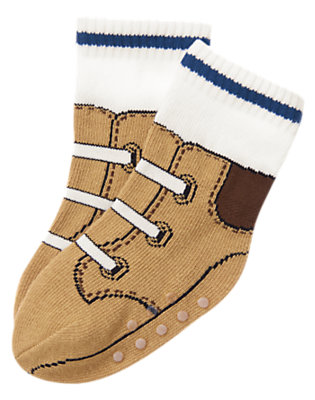 Tan Construction Boot Sock by Gymboree