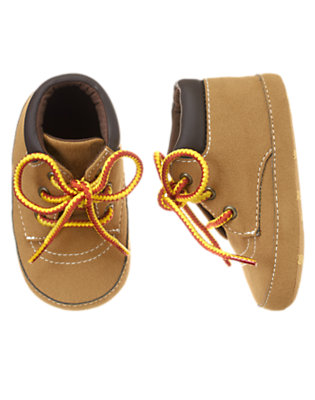 Brown Construction Crib Boot by Gymboree