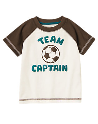 Toddler Boys Ivory Soccer Team Captain Tee by Gymboree