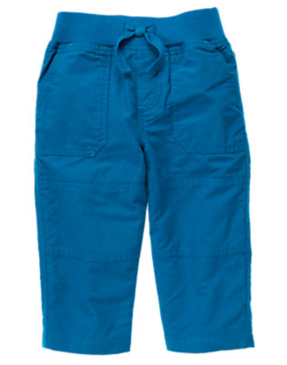 Toddler Boys Asteroid Blue Jersey Lined Active Pant by Gymboree