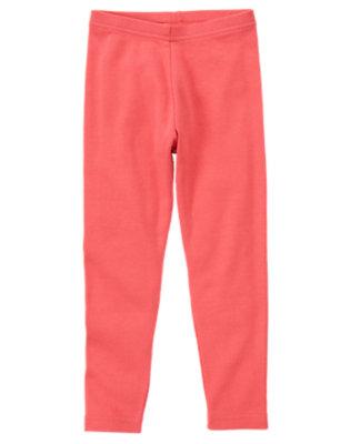 Girls Coral Pink Legging by Gymboree
