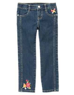 Denim Embroidered Flower Jean by Gymboree