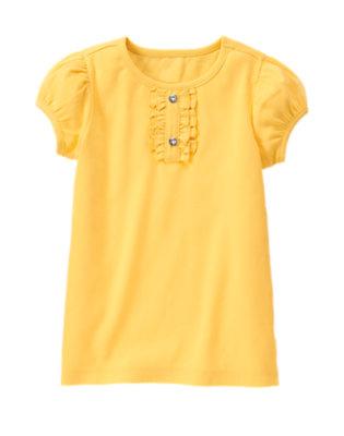 Dandelion Yellow Gem Button Tee by Gymboree