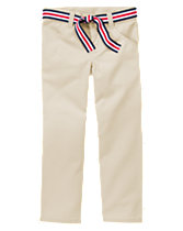 Uniform Belted Straight Pant