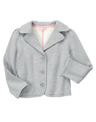 Girls Heather Grey Uniform Fleece Blazer by Gymboree