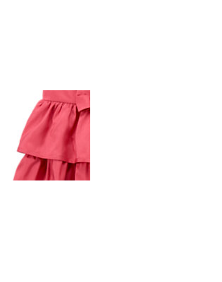 Girls Antique Rose Rosette Tiered Duppioni Dress by Gymboree