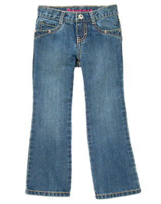 Girls Medium Wash Denim Rhinestone Bootcut Jean by Gymboree
