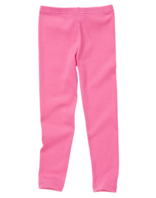 Girls Bright Pink Legging by Gymboree