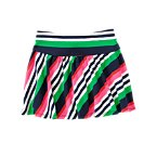 Diagonal Stripe Skort