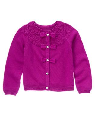 Girls Princess Purple Gem Button Sweater Cardigan by Gymboree