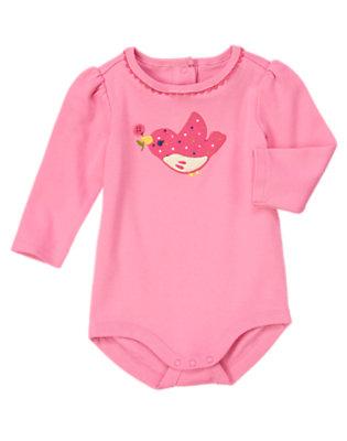 Birdie Pink Sweetie Bird Bodysuit by Gymboree